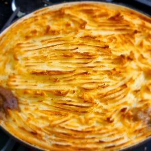 Beautifully Golden Brown Leftover Lamb Shepherds Pie