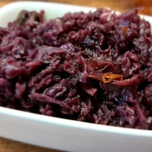 Braised Christmas Red Cabbage