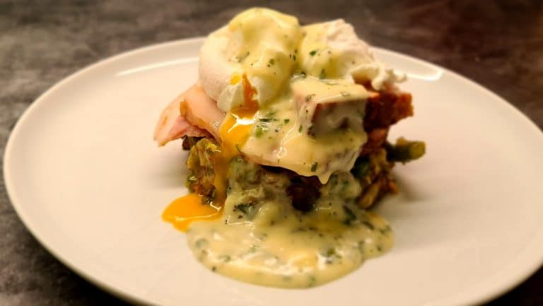 Bubble and Squeak with Parsley Sauce