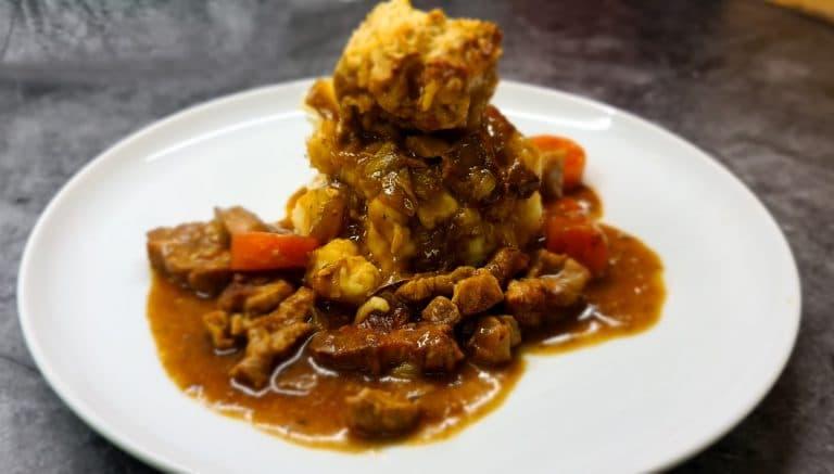 Pork Casserole with Dill Dumplings