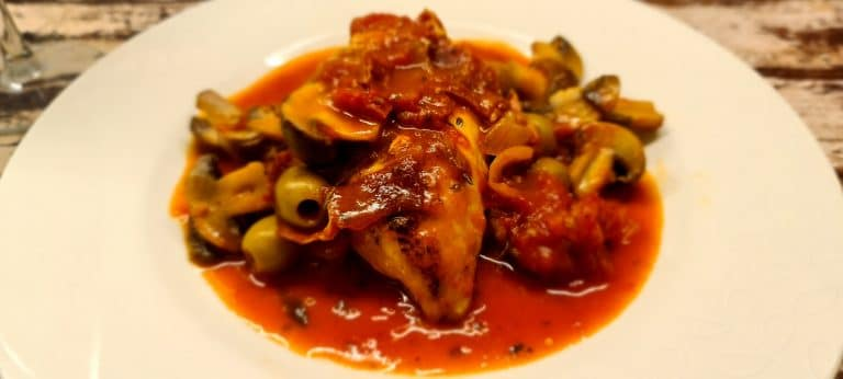 Healthy Chicken Cacciatore