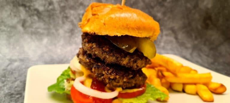 Haggis and Beef Burger