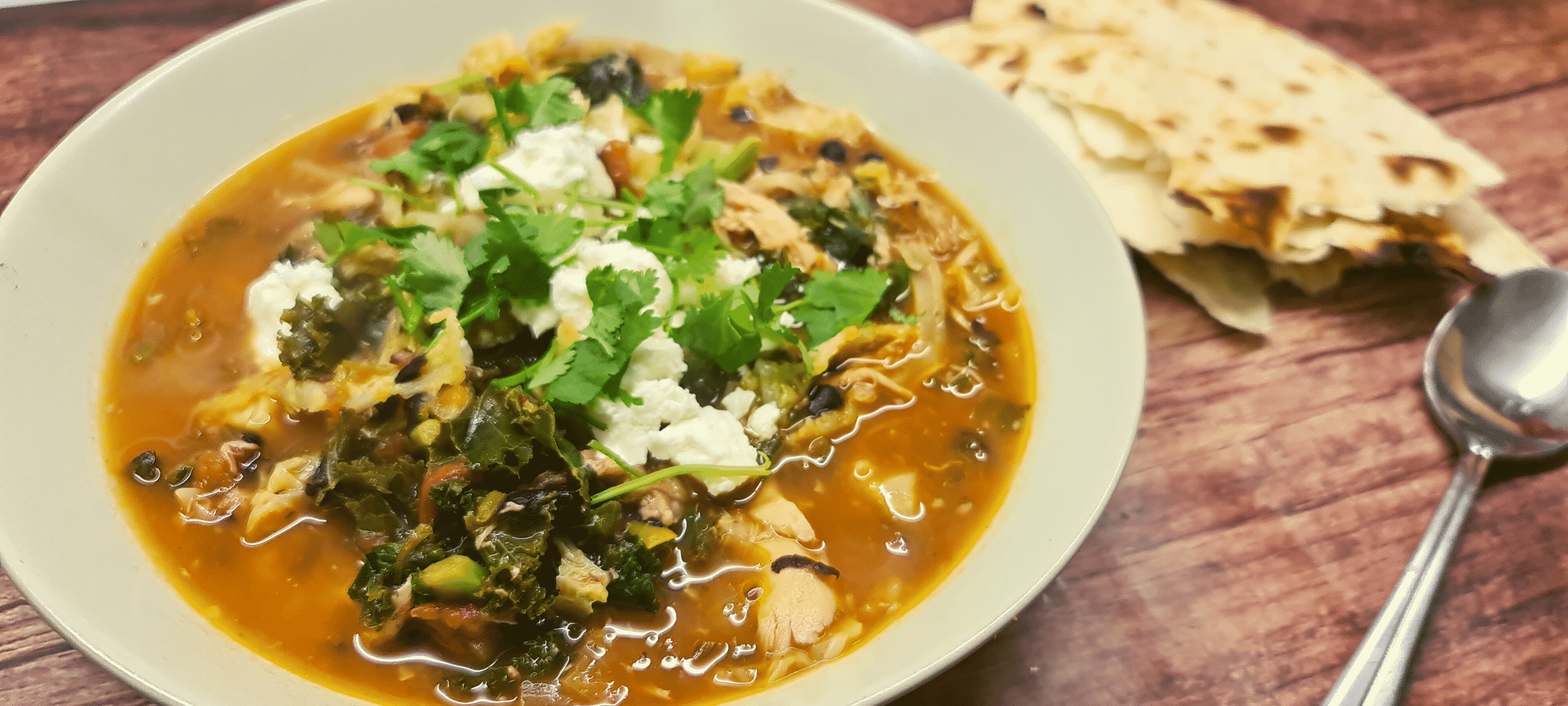 Chicken, Black Bean and Kale Soup