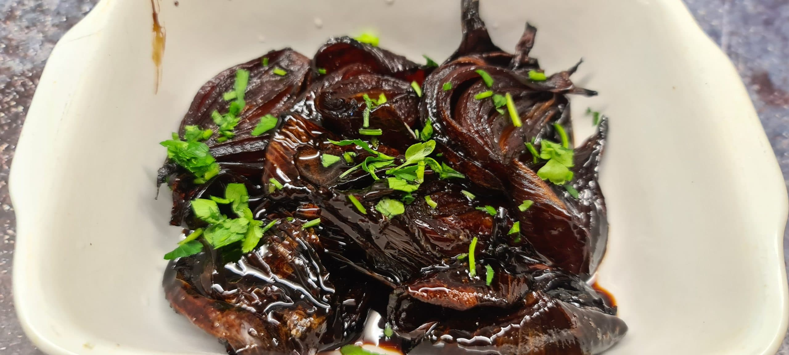 Balsamic Glazed Red Onions