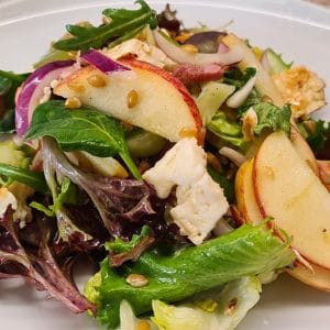 Apple, Bacon, and Pearled Spelt Salad