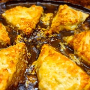 Savoury Mince Cobbler with Cheese